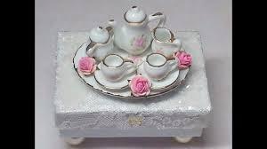 diy make an adorable shabby chic miniature tea set trinket box