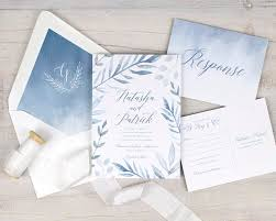 blue wedding invitations dusty blue wedding invitations rustic wedding invitations