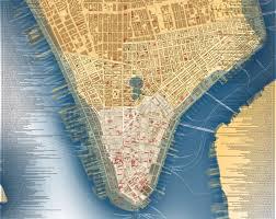 Map Manhattan Cultural Group U0027s New Historical Map Shows U0027lower Manhattan Then