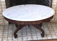 antique oval marble top coffee table carved coffee table ebay