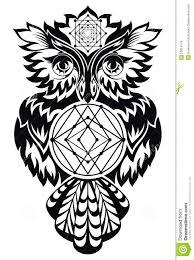 owl tattoo design stock vector image 53614749