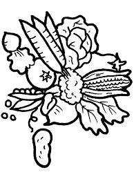 coloring pages of fresh fruit and vegetables free coloring pages