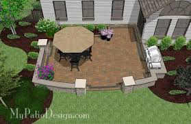 415 sq ft private backyard patio design with seat wall 415 sq ft