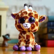 2017 beanie boos ty big eye kids baby toy colorful safari giraffe