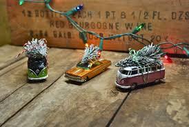 car tree ornaments lights decoration