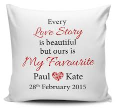 Hire Cushions For Wedding Chairs Uk Personalised Every Love Story Is Beautiful Wedding Day Anniversary