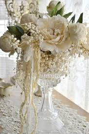 Shabby Chic Wedding Centerpieces by Vintage Wedding Add Pearls Over Shabby Chic Wedding Reception