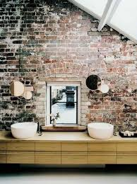 20 dashingly contemporary bathroom designs with exposed brick industrial bathroom with brick walls