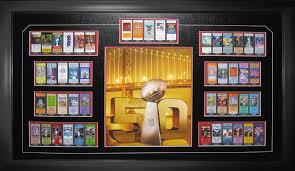 Superbowl Tickets Item Detail Superbowl 50 Framed Ticket Set San Francisco