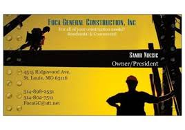 Business Cards St Louis Bbb Business Profile F O C A General Construction Inc