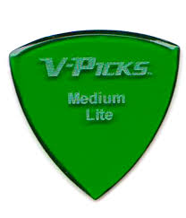 emerald medium pointed lite emerald green v picks guitar picks