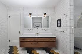 Walnut Bathroom Vanity Chicago Walnut Bathroom Vanity Contemporary With Tile Walls