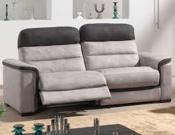 canap noir et gris canapé relaxation électrique en tissu hcommehome