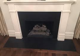 black pearl honed granite install fireplace absolute fabricator selden