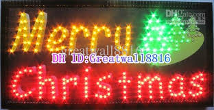 19x10 led outdoor open sign light neon merry sign