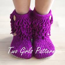 womens slipper boots size 11 womens crochet boot house slipper pdf crochet pattern s 5