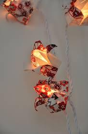 guirlande lumineuse papier japonais nouveau mini lotus motif kimono guirlandes u0026 origami