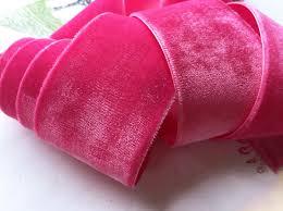velvet ribbon vintage crushed velvet ribbon rayon with satin back in shocking