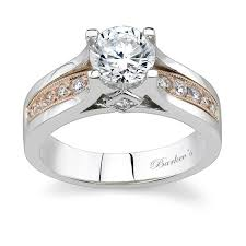 two tone wedding rings barkev s two tone engagement ring 7173l