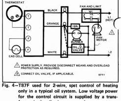 auto thermostat installation 3 wire high limit honeywell t87f