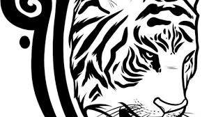 simple tiger face drawing how to draw a tiger tattoo design tiger
