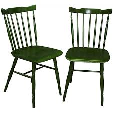 postmodern green dining chairs in wood produced by ton 1980s