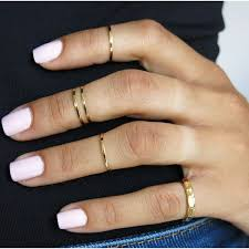 gold knuckle rings images Set of 5 gold knuckle rings pinky ring mid knuckle ring above jpg