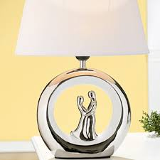 Schlafzimmer Lampe Und Nachttischlampe Hochzeitslampe Weiß Silber Schlafzimmerlampe Gilde Nachttischlampe