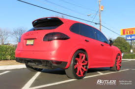 Porsche Cayenne Red - porsche cayenne with 24in forgiato fondare ecl wheels exclusively