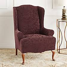 wingback chair slipcovers recliner covers bed bath beyond