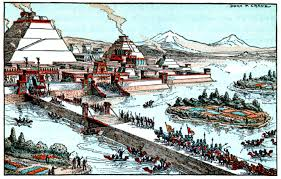 Tenochtitlan Map Tenochtitlan The Great Ceremonial Capital Of The Aztec People