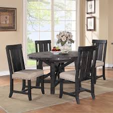 modus round yosemite 5 piece round dining table set with wood