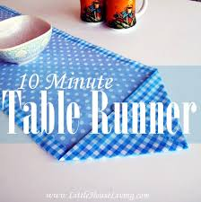 how to make table runner at home how to sew a ten minute table runner sewing 4 free