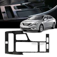 hyundai sonata yf 2014 interior gear panel 5d glossy shiny carbon decal for hyundai 2011