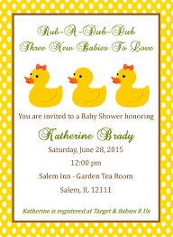 Baby Shower Invitations And Thank You Cards Triplet Baby Shower Invitation Duck Design Digital File