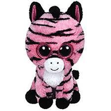 ty beanie boo plush zoey zebra 15cm color vary amazon