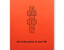 grad math prime number birthday graduation prime of your card math