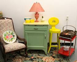 Kitchen Utility Cabinet Found In Ithaca Ladies Rocker Sold Green Cabinet With Yellow