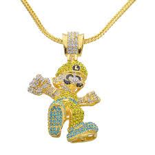 hip hop necklace images Buy large size cartoon game pendant hip hop jpg