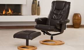 bonded leather reclining chair groupon goods