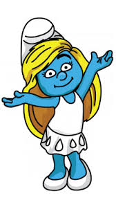 draw smurfette smurfs cartoons easy step step