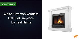 white silverton ventless gel fuel fireplace by real flame