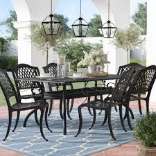 Wayfair Patio Dining Sets Six Person Patio Dining Sets You Ll Wayfair