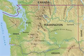 State Map Of Oregon by Physical Map Of Washington