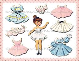 printable paper dolls instant download paper doll digital printable collage sheet