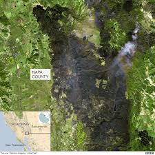 California Wildfire Satellite View by Santa Rosa And Napa Wildfire Destruction From Above Bbc News
