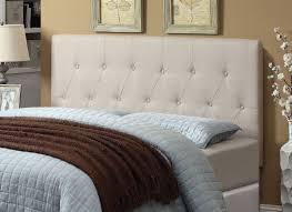 ivory fabric tufted upholstered headboard caravana furniture