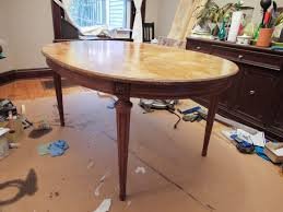 kitchen table furniture refinishing chalk paint table makeover
