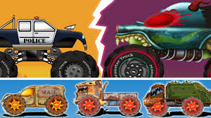 monster truck videos for little red car and the scary haunted house monster truck yupptv india