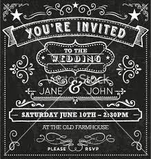 wedding chalkboard invitation elements vector 1587073 by